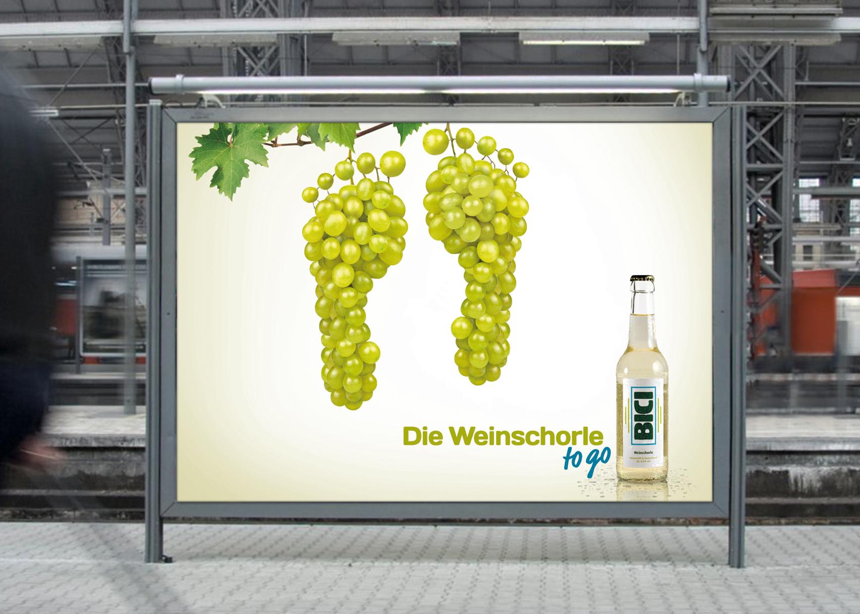 BICI Weinschorle Poster
